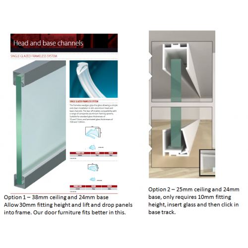 Glass Partition Track