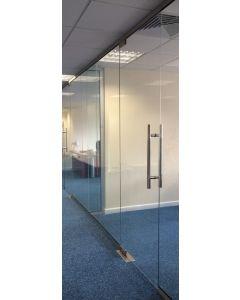 Internal Glass Partition Door 2360mm x 900mm - 10mm glass