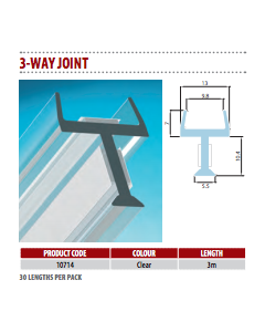 No More Silicon Dry Join for Glass Partitioning - 3 Way Join (10 pieces)