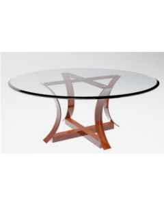 1600mm x 10mm Circular table top with bevelled edges and packaging