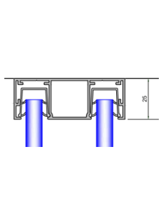 Double Glazed Channel 25mm - For Ceilings and Walls