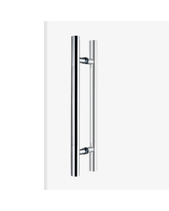 300mm D Shape Pull Handle for glass doors - 300mm centres