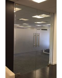 Interior Double Glass Doors, all parts included total size= 2130mm(h)x1815(w)mm