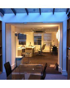 used glass partition 2 panels and 1 door