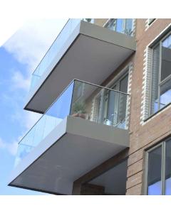 Axis Eazy Fix Frameless Glass Balustrade Base Rail 1.5Kn - per meter - SATIN