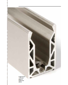 3M Aluminium Bead for Axis Eazy Fix Frameless Glass Balustrade Base Rail - SATIN