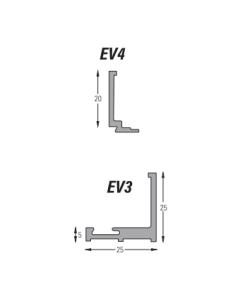 (25mm) 3 Meter EVO Clip and Go U-Channel (WHITE)