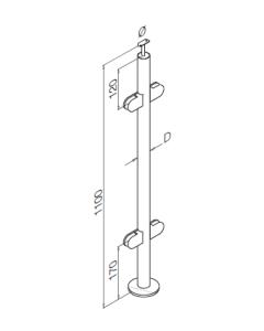 Glass Balustrade Mid post