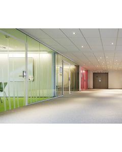 Single glazed office partitioning