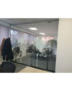 3m wide used glass partition