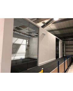 used glass partition 1815mm wide door and panel