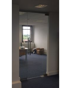 used glass partitioning 1165mm wide