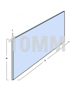 Glass Partitioning 10mm Toughened Glass Panel (2590mm x 900mm x 10mm)