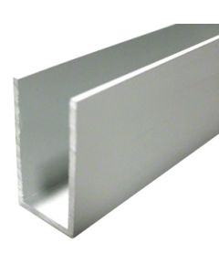 (24mm) 3 Meter Glass Partition U channel (White)