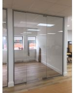 used glass partition 2070mm wide