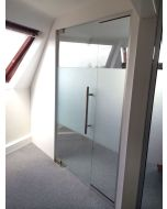used glass partition 1365mm wide